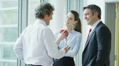 stock-footage-casual-and-informal-business-meeting-colleagues-chatting-together